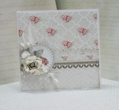 shabby simple card -  LemonCraft colection