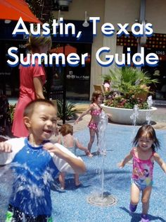 Austin, Texas Splashpads, Swimming Pools, Trains, and other fun Summertime Places!