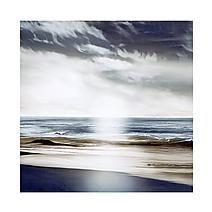 Grey Simplicity Waves Canvas
