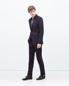 Image 2 of BASIC NAVY SUIT from Zara