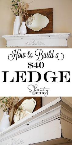 DIY A Floating Ledge Shelf – How To – Tutorial. @ DIY Home Crafts