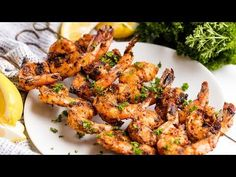 Easy Grilled Shrimp is full of flavor and easy to make either directly on the grill or on skewers. No marinating required! Easy Grilled Shrimp is full of flavor and easy to make either directly on the grill or on skewers. No marinating required! Easy Grilled Shrimp Recipes, Marinated Grilled Shrimp, Cajun Shrimp Recipes, Seafood Recipes, Grilled Food, Salmon Recipes, Stay At Home Chef, Homemade Dinner Rolls, How To Cook Shrimp