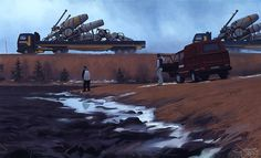 Here's another guy I wouldn't mind doing the covers for my book...  (Simon Stålenhag Art Gallery)
