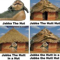 Star Wars Art Discover Im still in my Jabba The Hutt Hut Star Wars Trivia, Star Wars Witze, Star Wars Meme, Star Wars Facts, Funny Star Wars, Jabba The Hutt, Rasengan Vs Chidori, Star Wars Pictures, Star Wars Wallpaper