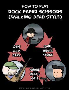 The Walking Dead Way to Play Rock, Paper, Scissors - Zombie Comics