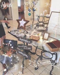 @kyo_wdのInstagram写真をチェック • いいね!104件 Wedding Notes, Star Wedding, Welcome Boards, Stars At Night, Wedding Welcome, Diy Wedding Decorations, Happy Day, Display, Bride