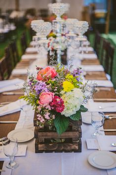 beautiful floral arrangements at a West Virginia countryside estate wedding, floral design by Gillespies Flowers, photo by The Oberports | via junebugweddings.com