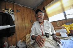 Veteran's new war is homelessness.    Pearl Harbor survivor, 92, living in rusted trailer. 7/17/2012
