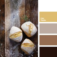 The combination of warm shades of brown and yellow colors of baking is supplemented with light lilac. This color scheme is suitable for the decoration of hallway or study library, and it would be appropriate in men's casual and business wardrobe.