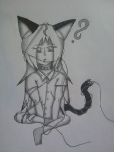 My character called Yuki. She is a half cat, half human experiment.  Made by Me