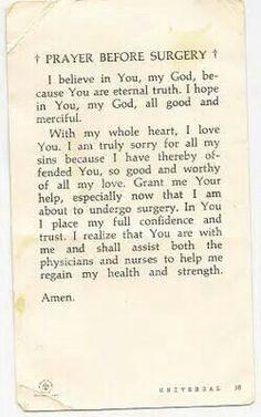 Prayer for someone having a biopsy