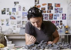 Studio of beautiful hand built porcelain artist KATE MACDOWELL. (see her art on both /\rtƒul sTudℽ ◙f ! Kate Macdowell, Contemporary Ceramics, Ceramic Design, Clay Ideas, Beautiful Hands, Studios, Porcelain, Portraits, The Incredibles