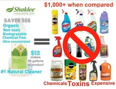 Shaklee products are Green and Save you $.