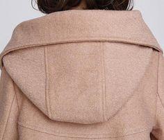 Camel cloak wool coat Hooded Cape women Winter wool coat