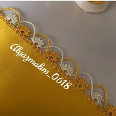 Balochi Dress, Saree Kuchu Designs, Crochet Borders, Heart Patterns, Crochet Designs, Diy And Crafts, Knitting, Gold, Handmade