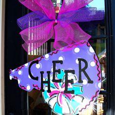 Door Hanger Cheerleader Decoration Personalized by LooLeighsCharm, $35.00