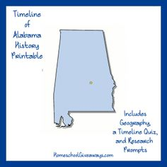 Alabama state study geography pinterest alabama activities enjoy this free alabama state history printable and learn about some of the many events that have helped shape alabama history fandeluxe Images