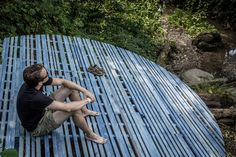 This Simple Serene Meditation Platform Was Designed To Overlook A Stream