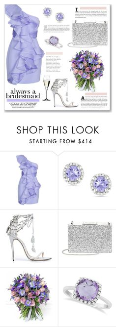 """Always a Bridesmaid"" by pao-nanino ❤ liked on Polyvore featuring Notte by Marchesa, Ice, Marchesa, Aspinal of London, Philippa Craddock, Allurez and Riedel"