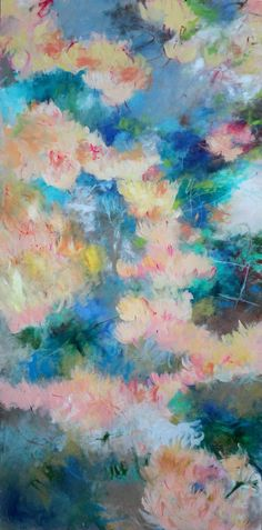 Honeysuckle Kerri Blackman  #abstract expressionist, #painting #art #colorful