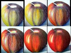 Color Pencil Drawing Tutorial this is a really good visual of the qualities of colored pencils - they are essentially colored wax. Pencil Painting, Color Pencil Art, Watercolor Pencils, Watercolour, Colored Pencil Tutorial, Colored Pencil Techniques, Pencil Drawing Tutorials, Pencil Drawings, Drawing Ideas