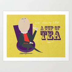 Tea Art Print by Doodleby via society6