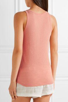Skin - Organic Pima Cotton-jersey Pajama Top - Antique rose