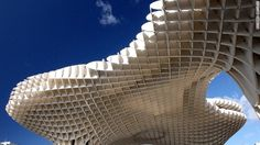 The Metropol Parasol is one of the world's largest wooden structures. Located in Seville, Spain.