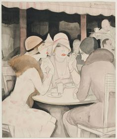"""At Kranzler's, Berlin"" - Jeanne Mammen - 1929."