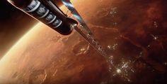 Mars space elevator