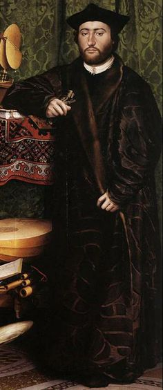 detail - The Ambassadors (1533)  by Hans Holbein the Younger the National Gallery, London.