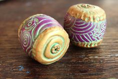 polymer clay beads | Polymer Clay: Beads mostly / By Anke - Anart Island Studios
