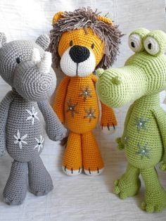 Galna i Garn: Lejonet Ludwig Crochet Animal Amigurumi, Knitted Animals, Amigurumi Doll, Amigurumi Patterns, Crochet Dolls, Crochet Patterns, Crochet For Kids, Diy Crochet, Crochet Crafts