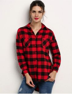 Plaid Print Long Sleeve Shirt