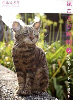 Midori Nakayamas Nadel filzen realistische Katzen von pomadour24