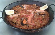 Enlace permanente de imagen incrustada Paella, Beef, Foods, Drinks, Ethnic Recipes, Gastronomia, Dishes, Recipes, Meat
