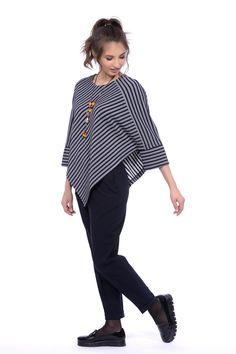 Джемпер Lautus 268-645: купить в интернет-магазине GroupPrice недорого Muslim Fashion, Hijab Fashion, Boho Fashion, Fashion Dresses, Stylish Dresses, Trendy Outfits, Blouse Batik, Stripes Fashion, Dress Patterns