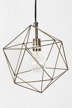 Magical Thinking Geo Pendant - #Geometric #Brass #Lighting #HomeDecor #Trends 2014