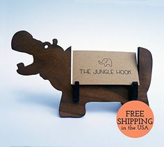 Hippo business card holder and gift card holder - great office gift, or gift for anyone who needs to organize tiny pieces of paper