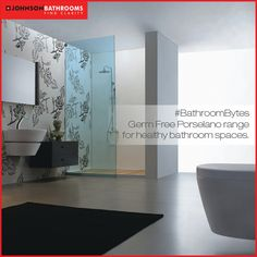 #BathroomBytes Bathroom is the most damp and humid place in the house, providing ideal conditions for mold, bacteria, viruses, etc to grow. Johnson Porselano range of slabs and splits are perfect for such situations as they a possess germ free & stain free quality. Along with this a regular cleaning regime ensures clean and healthy space.