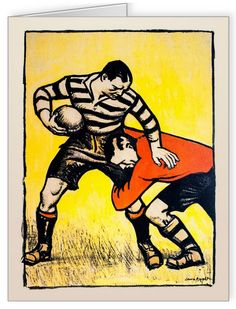 """I love vintage rugby posters ! Here is another good reason to visit RFU Rugby Museum at Twickenham : this """"Off The Wall"""" temporary exhibition dedicated to rugby posters (till end September Let's quote the Museum website: From its. Rugby Poster, Rugby Games, Rugby Sport, Rugby Kit, Rugby Club, London Transport Museum, Vintage Travel Posters, Retro Posters, French Posters"""