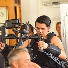 @carlos.g_ tagged us in this pic of the Armor Man in action! ⭐️⭐️⭐️ #production #equipment #armorman #tilta #gear #filmlife #setlife #gimbal #gimbalsupport