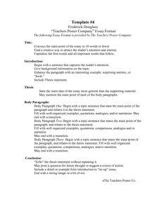 poster company essay format the following essay format - Proper Essay Format