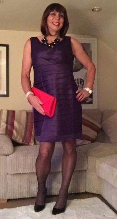 Bethany | Purple satin dress