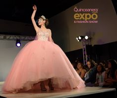 Pink Quinceanera Dress with a Veil | Quinceanera Ideas |