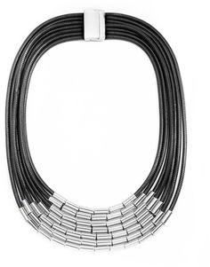 Wild Lilies Jewelry Black Tube Necklace