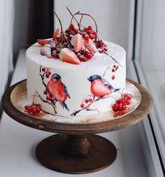 Was für ein Kuchen! Wie ein Hauch von Winter - Creative Food / Еда и творчество - Kuchen Pretty Cakes, Cute Cakes, Beautiful Cakes, Amazing Cakes, Simply Beautiful, Food Cakes, Cupcake Cakes, Cake Cookies, Bolo Cake