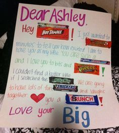 big little week candy poster - Google Search