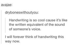 Yep >>> thats so cool! But then i have terrible handwriting...