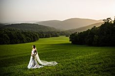 A majestic view of pristine Springtree Farm framed by the highest reaches of the Cumberland Plateau gives a breathtaking locale to hold an elegant southern wedding that everyone will remember